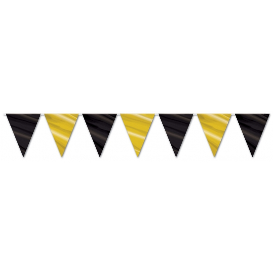 vlaggetjes slinger zwart goud de vlaggen winkel altijd